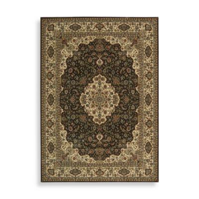 Nourison Persian Arts 5 Foot 3 Inch Octagonal Rug In Kirman Chocolate