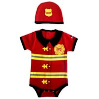 Sozo® Size 12M 2-Piece Firefighter Bodysuit and Cap Set in Red/Black