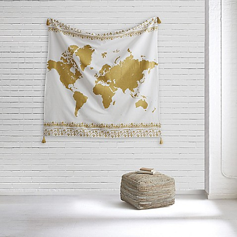 image of Style Co-op® World Map Tapestry