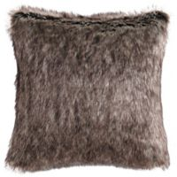 Charisma Rhythm Faux Fur Throw Pillow in Brown