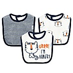 Gerber® 3-Pack Tiger Dribbler Bib in Blue/Orange