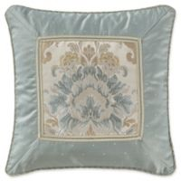 Marquis® by Waterford Warren Floral Damask Square Throw Pillow in Cream