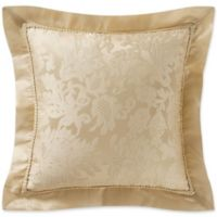 Marquis® by Waterford Isabella Floral Jacquard Square Throw Pillow in Gold
