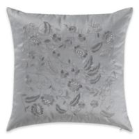 Marquis® By Waterford Samantha Embellished Square Throw Pillow in Platinum