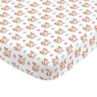 NoJo® Aztec Mix And Match Fox Print Fitted Crib Sheet in Orange/White