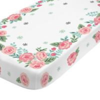 NoJo® Aztec Mix And Match Engineered Floral Fitted Crib Sheet in Pink
