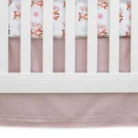NoJo® Aztec Mix And Match Solid Embroidered Crib Skirt in Pink