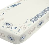 NoJo® Aztec Mix And Match Adventure Print Fitted Crib Sheet in Navy/White