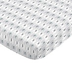 NoJo® Aztec Mix & Match Elephant Print Fitted Crib Sheet in Grey