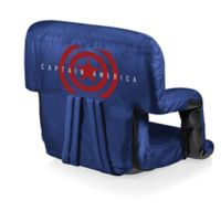 Picnic Time® Captain America Canvas Adjustable Chair in Navy