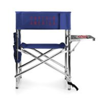 Picnic Time Captain America Sports Chair in Navy