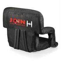 Picnic Time® Canvas Adjustable Chair in Black