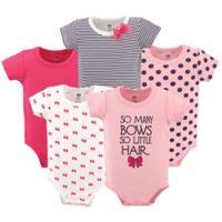 Hudson Baby® 5-Pack So Many Bows Short Sleeve Bodysuits
