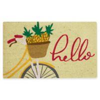 """Mohawk Home® 18"""" x 30"""" Pineapple Bike Coir Multicolor Door Mat"""