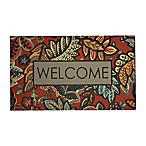 "Mohawk Home® 18"" x 30"" Empire Welcome Jacobean Door Mat in Red"