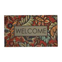 """Mohawk Home® 18"""" x 30"""" Empire Welcome Jacobean Door Mat in Red"""