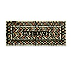 "Mohawk Home® 19.5"" x 47"" Diamond Subway Welcome Door Mat in Black"