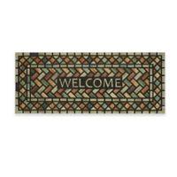 """Mohawk Home® 19.5"""" x 47"""" Diamond Subway Welcome Door Mat in Black"""