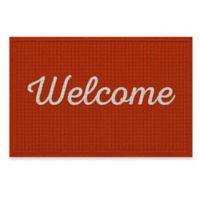 Weather Guard™ 24-Inch x 36-Inch Script Welcome Door Mat in Rust