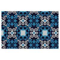 Weather Guard™ 24-Inch x 36-Inch Ariana Door Mat in Blue