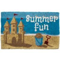"Entryways Summer Fun 18"" x 30"" Coir Multicolor Door Mat"