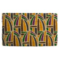 "Entryways Kaleidoscope 18"" x 30"" Coir Multicolor Door Mat"
