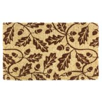 "Entryways Acorns 18"" x 30"" Coir Door Mat in Brown"