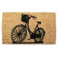 """Entryways Bike 18"""" x 30"""" Coir Door Mat in Black"""