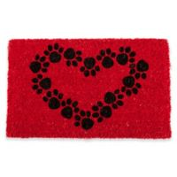 "Entryways Heart and Soles 18"" x 30"" Coir Door Mat in Red/Black"