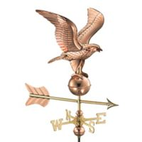 Good Directions Eagle Garden Weathervane with Pole in Polished Copper