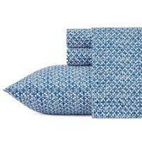 Trina Turk Cascara 200-Thread-Count Queen Sheet Set in Blue