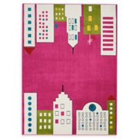 Nourison Miles 4' x 6' Area Rug in Pink