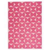 Nourison Harper 5'3 x 7'3 Area Rug in Pink