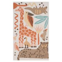Nourison Bailey Tropical Animal 2'3 x 3'9 Accent Rug in Coral
