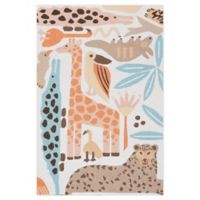 Nourison Bailey Tropical Animal 3'6 x 5'6 Area Rug in Coral