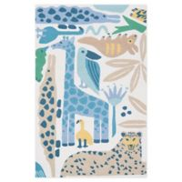 Nourison Bailey Tropical Animal 3'6 x 5'6 Area Rug in Blue