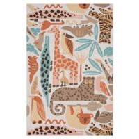 Nourison Bailey Tropical Animal 5' x 7'6 Area Rug in Coral
