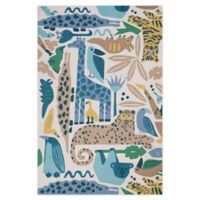 Nourison Bailey Tropical Animal 5' x 7'6 Area Rug in Blue