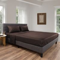 Nottingham Home Brushed Microfiber Twin XL Sheet Set in Chocolate