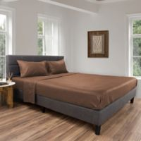 Nottingham Home Brushed Microfiber Queen Sheet Set in Taupe