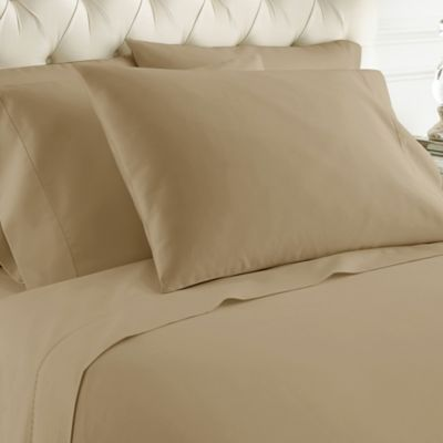Merveilleux Italian Hotel Collection 1000 Thread Count California King Sheet Set In  Khaki