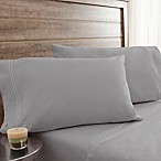 200-Thread-Count Soft Washed Cotton Percale Queen Sheet Set in Light Grey
