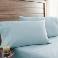 200-Thread-Count Soft Washed Cotton Percale California King Sheet Set in Blue