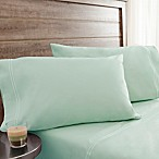 200-Thread-Count Soft Washed Cotton Percale Queen Sheet Set in Green