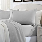 Great Bay Home Deep Pocket Solid King Sheet Set in Glacier Grey
