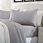 Great Bay Home Deep Pocket Solid King Sheet Set in Paloma Grey
