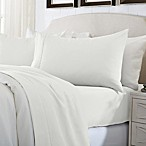 Great Bay Home Deep Pocket Solid King Sheet Set in Snow