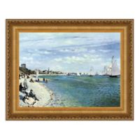 """Regatta at Sainte-Adresse"" 17.25-Inch x 14.75-Inch Framed Canvas Replica Wall Art"