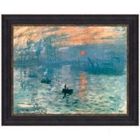 """""""Impression Sunrise"""" 46.75-Inch x 37.25-Inch Framed Canvas Replica Wall Art"""