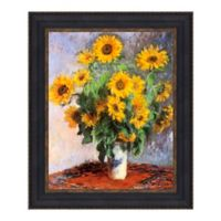 """""""Bouquet of Sunflowers"""" 12.75-Inch x 14.75-Inch Framed Canvas Replica Wall Art"""